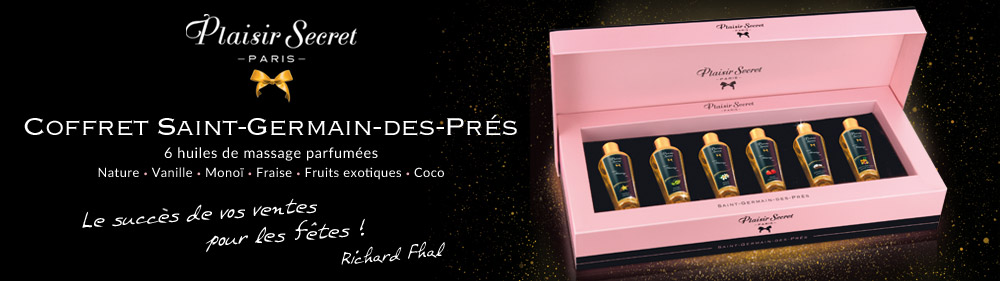 sextoys plaisir secret huiles de massage coffret prestige grossiste concorde
