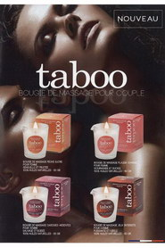 Flyer bougies et parfums taboo ruf