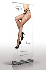 Roll-up publicitaire anne dales noir