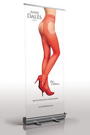 Roll-up publicitaire anne dales rouge