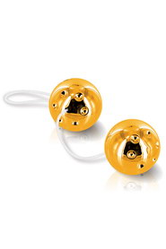 Duo balls gold -boules geisha or