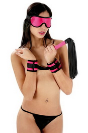 Sweet caress set bondage fuchsia