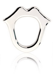 Cockring kiss silver t2