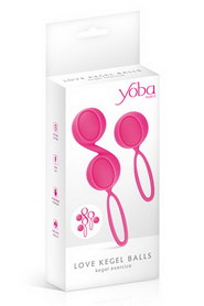 Set 2 kegel ball pink
