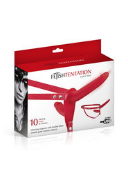 Double gode ceinture red vibrant fetish tentation