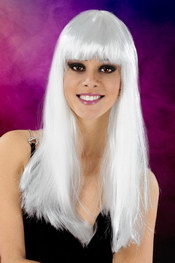 Cabaret wigs white long