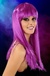 Cabaret wigs purple long