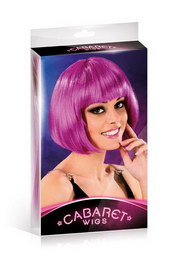 Cabaret wigs purple short