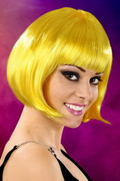 Cabaret wigs yellow short