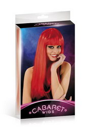 Cabaret wigs red long