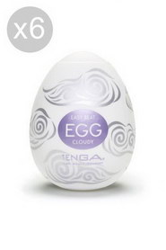 Egg cloudy set of 6 pcs