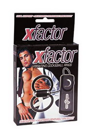 Xfactor vibrat. cock&ball rings