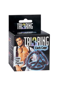 Tri 3 ring cock cage - cockring