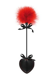 Cravache a tapette red/black