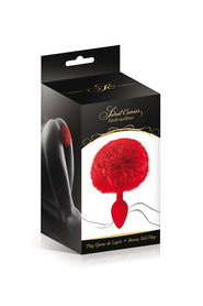 Plug rouge queue de lapin sweet caress