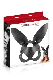 Masque bunny simili cuir réglable fetish tentation