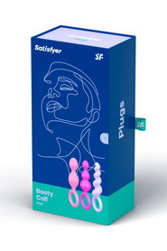 Coffret 3 plugs satisfyer plugs colored set of 3