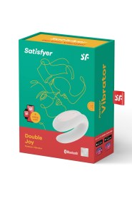 Stimulateur connecté blanc double joy satisfyer