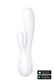 Vibromasseur rabbit connecté blanc satisfyer