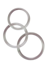 Cock & ball rings silicone x3