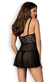 Nuisette noire ample letica babydoll obsessive