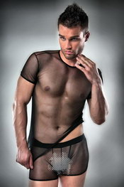 T-shirt et boxer passion homme transparent noir