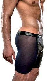 Short passion homme transparent noir