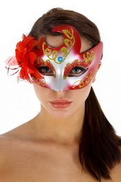 Masque faust rouge