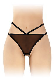 String noir ouvert sylvie fashion secret