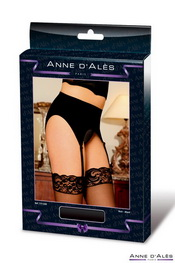 Porte-jarretelle anne d ales retro pin-up noir