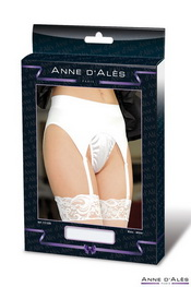 Porte-jarretelle anne d ales retro pin-up blanc