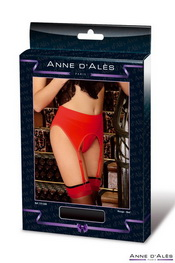 Porte-jarretelle anne d ales retro pin-up rouge