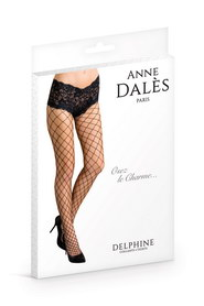 Collant anne d ales delphine maille filet noir