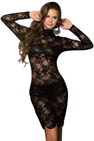 Robe sexy noire avec ensemble paris hollywood