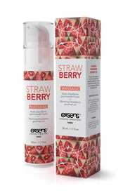 Massage hot gourmand strawb.50ml