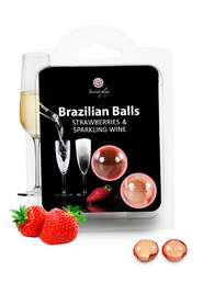 Set 2 brazilian balls straw-cham