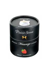 Bougie de massage fraise plaisir secret