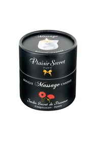 Bougie de massage coquelicot plaisir secret