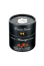 Bougie de massage bois rouge plaisir secret